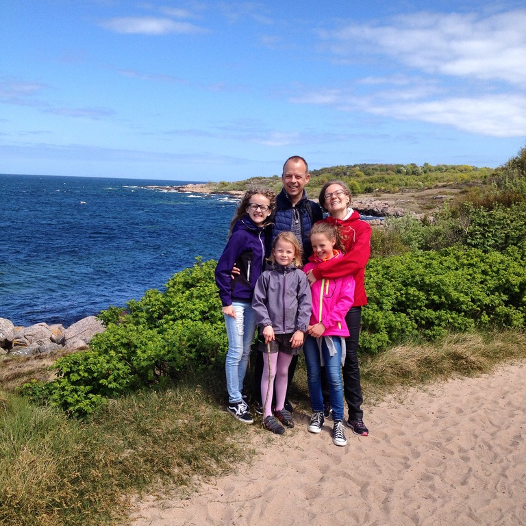 The 5 of us on Danish island Bornholm (2015)