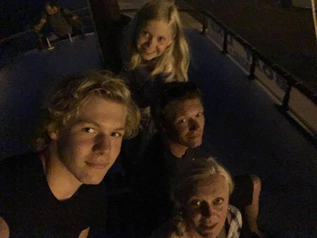 Us! Lina Maj 10, Bertil 15, Thomas 46 and Pernille 46.