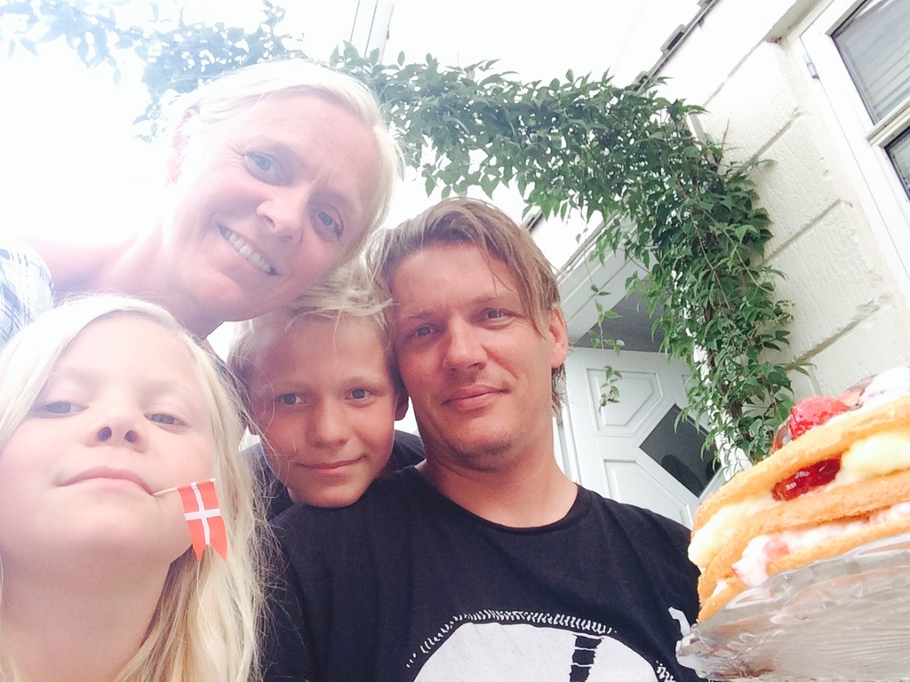 Us! Lina Maj 7, Bertil 13, Thomas 44 and Pernille 43.