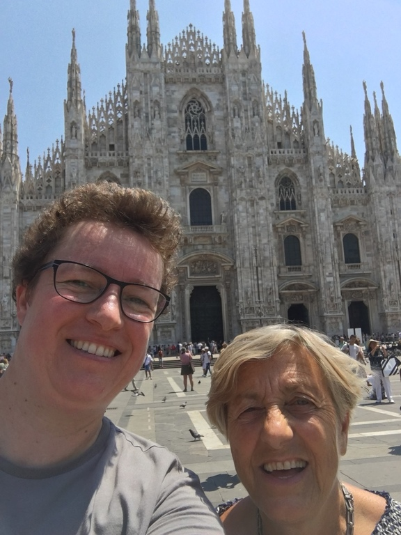On an exchange visit in Milan- visiting my new friend Anna and seeing the Duomo