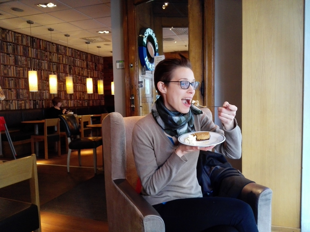Enjoying some cake in Malmö :-).