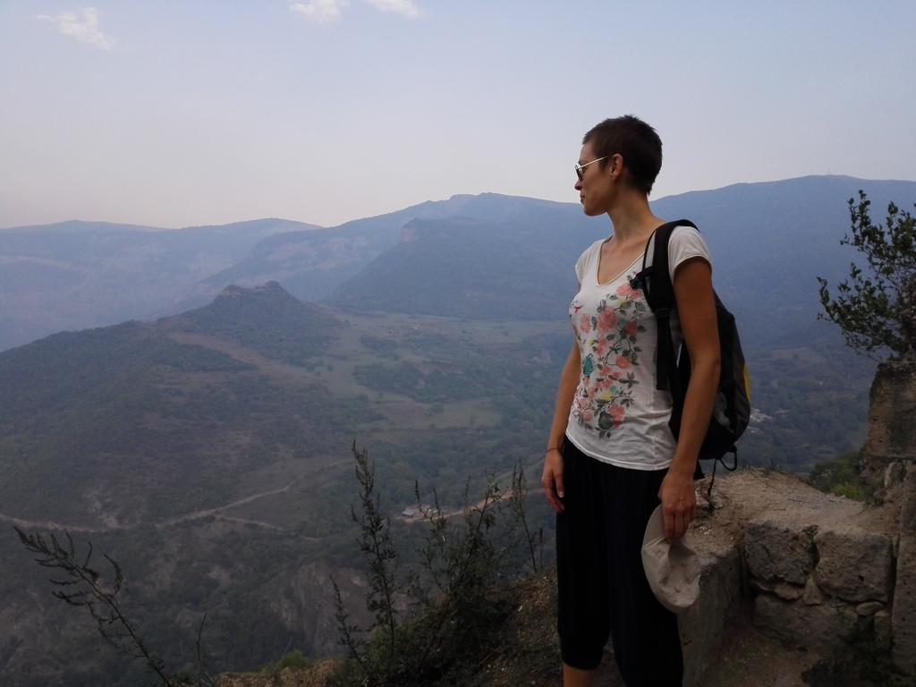 Admiring the view in Armenia