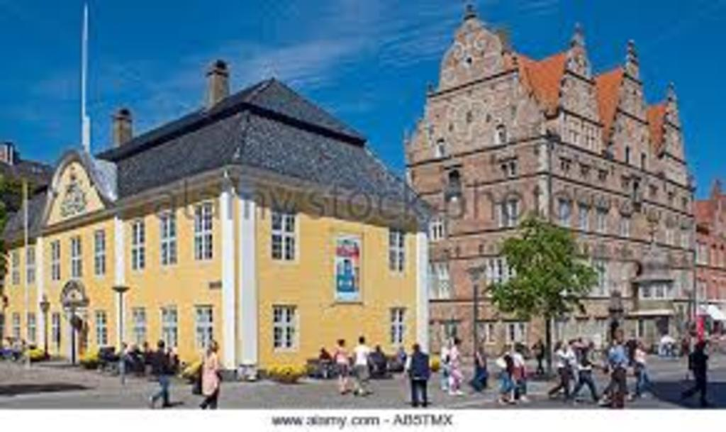 City of Aalborg. Aalborg is located 10-15 minutes from our house. Building to the right is the oldest building of Aalborg (1624)