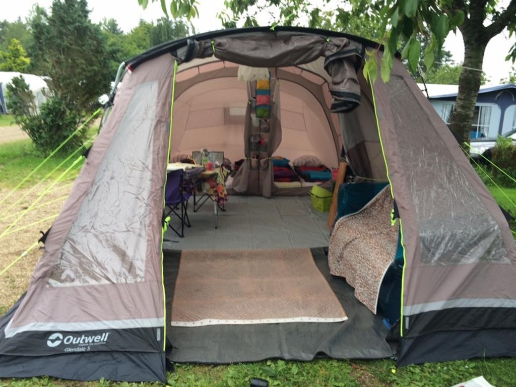 Our nice tent inside
