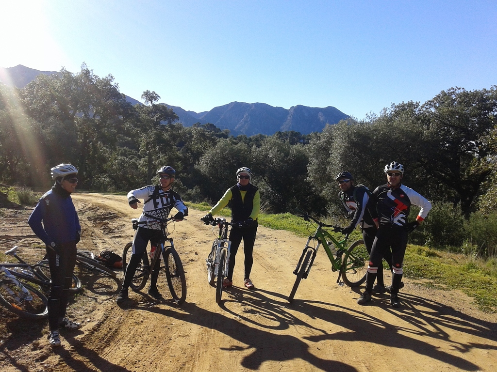 Mountaing Biking with some friends