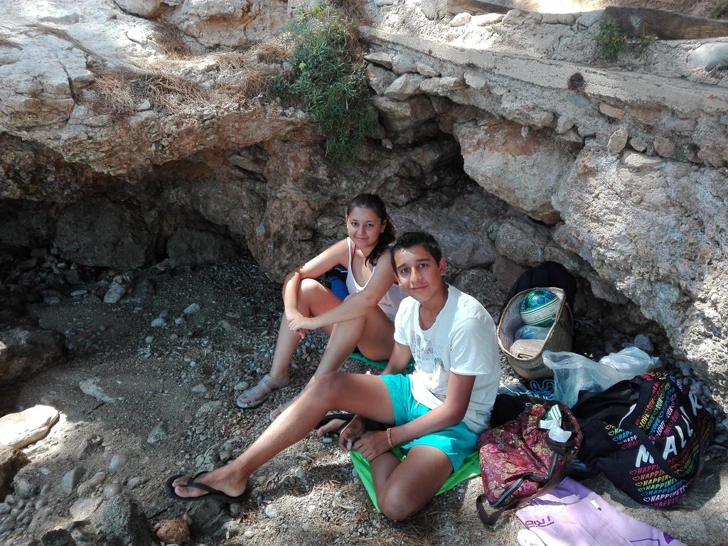 Nuestros hijos Maya y Miquel