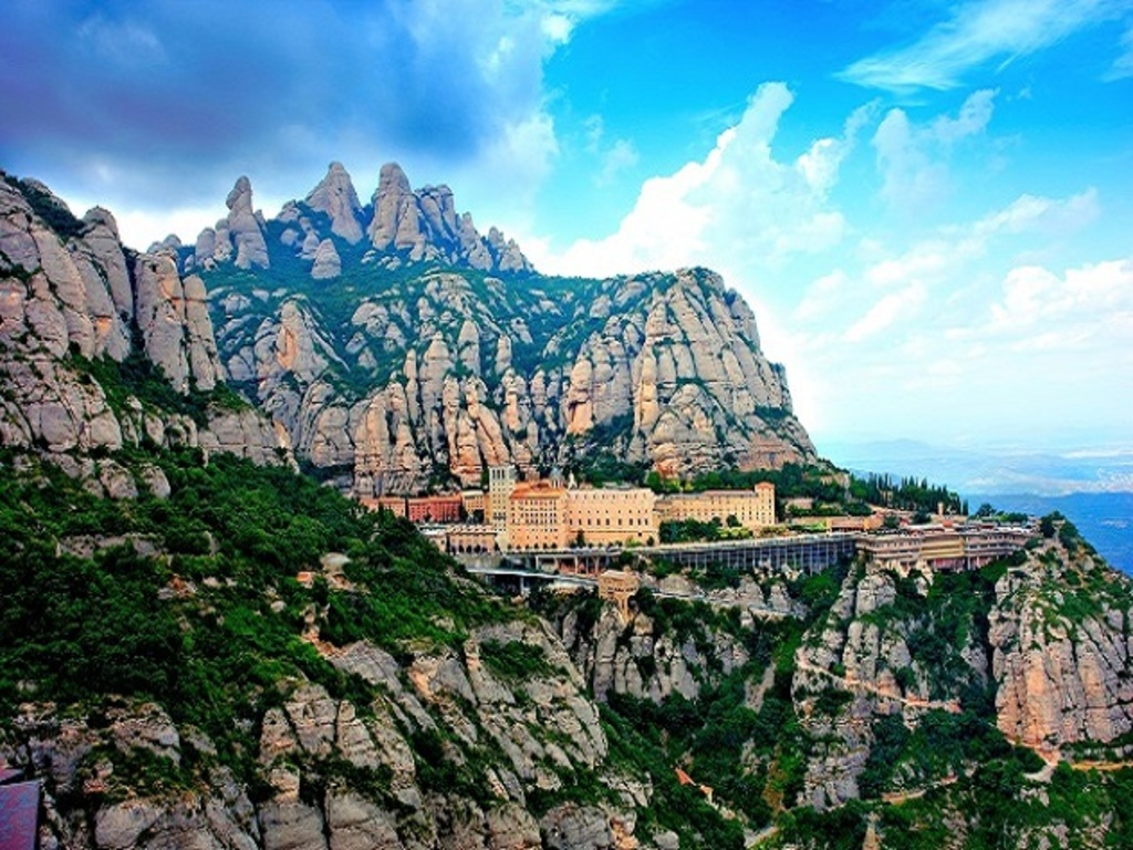 Montserrat holy mountain is 3/4h from home. Perfect place to hike around