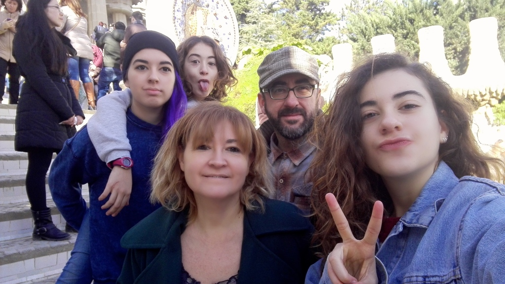 The family in the Parc Güell