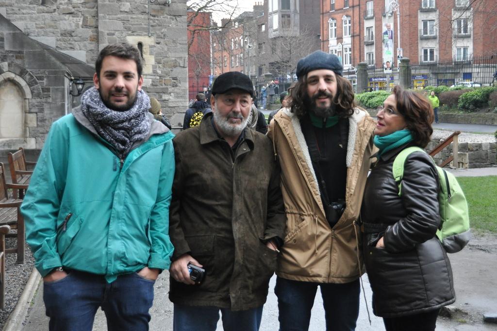 La Familia de fin de semana en Dublin