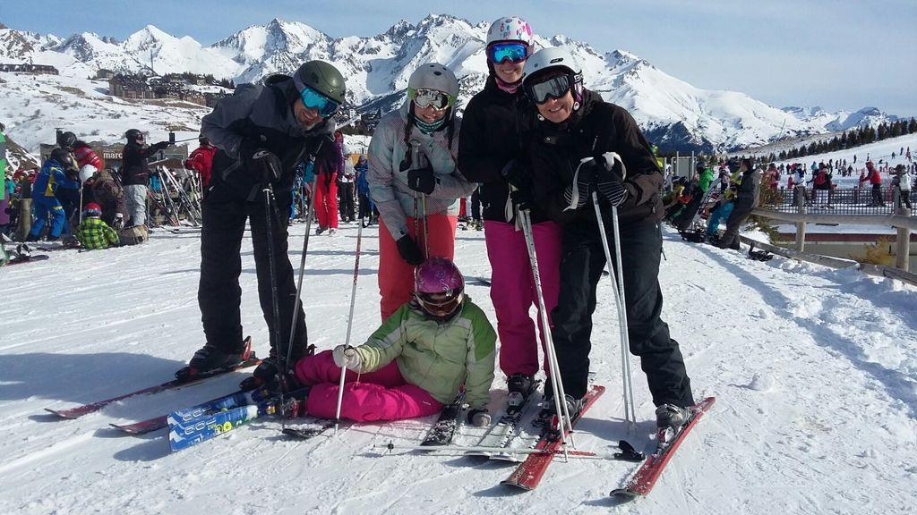 Nos encanta esquiar