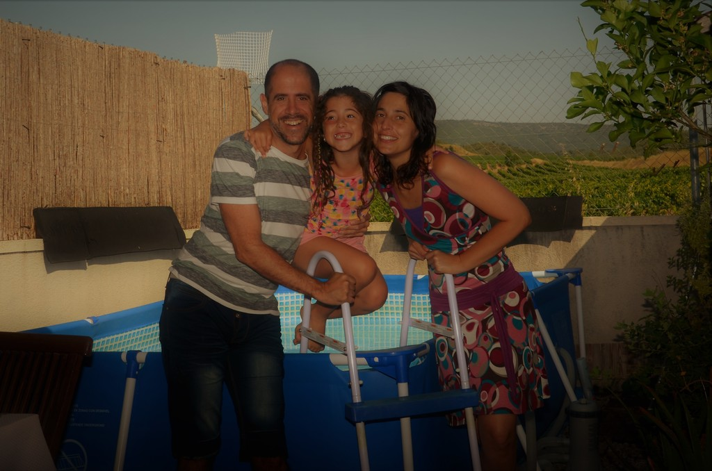 At home! Xavi, Nixe and Anna