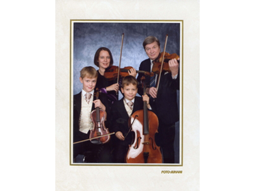 We debuted as a string quartet in 2007 at the wedding of a relative