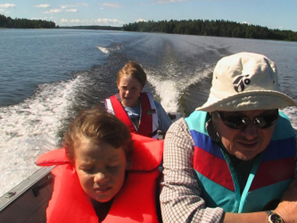 Boating at Lake Längelmävesi near Tampere