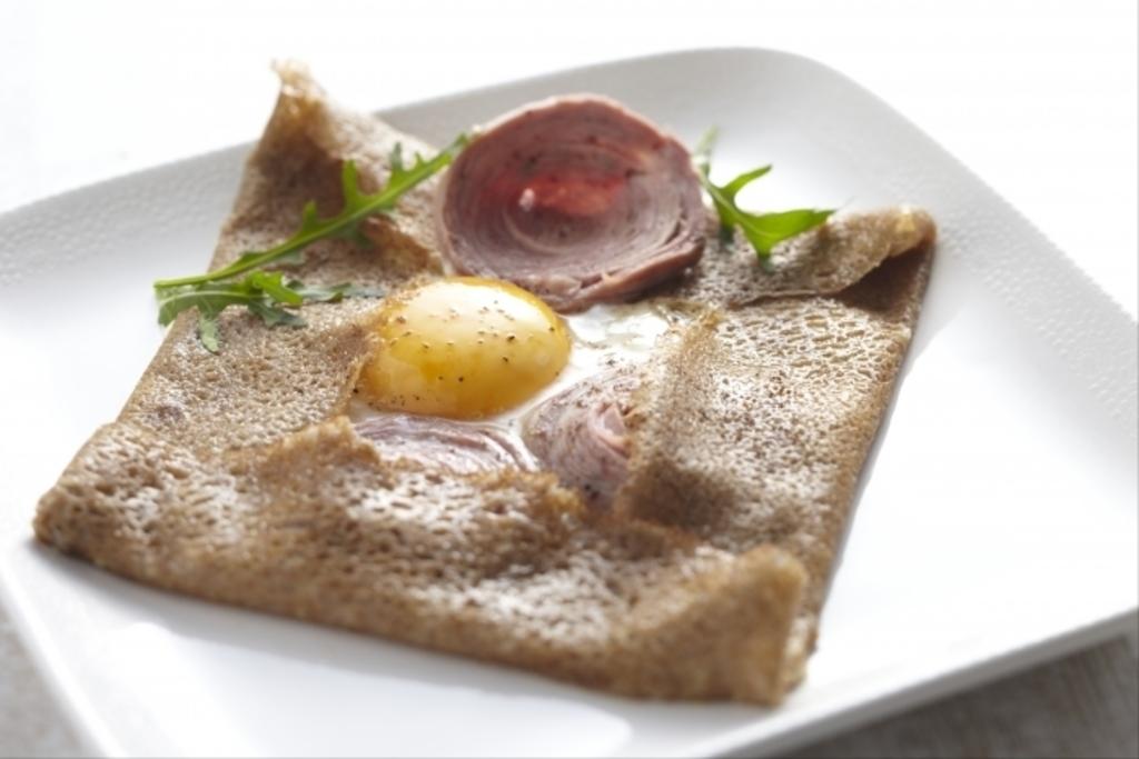 a  Breton buckwheat pancake