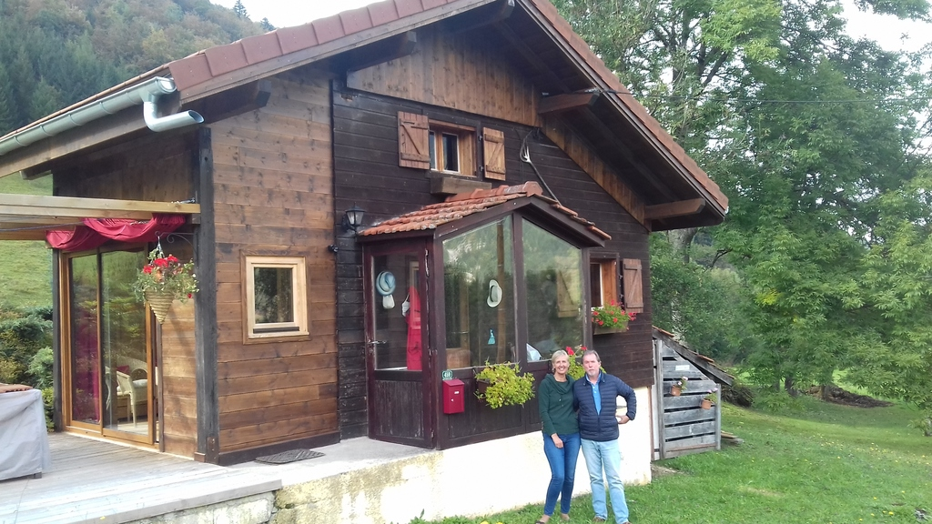 Our little chalet in the mountains. (a 30 min. drive from Thonon.)