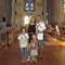 our family in Sagrada Familia in Barcelona