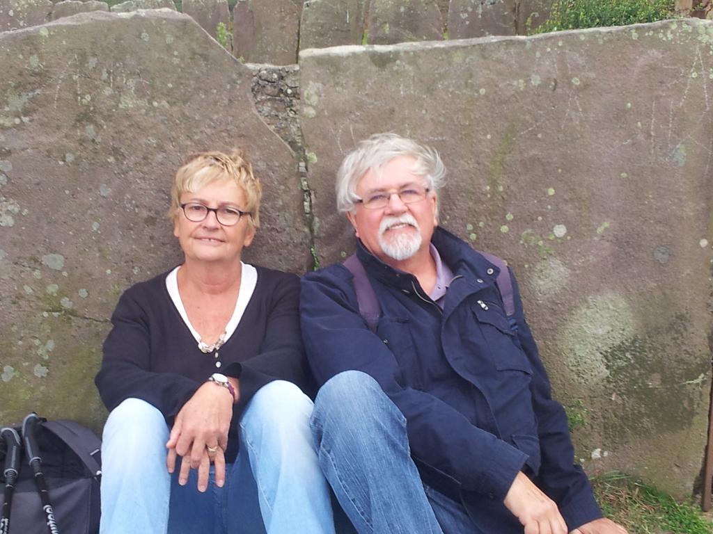 Maryse et Jean Pierre dans la montagne basque