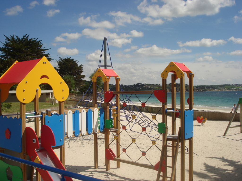 Children's playground on the beach near our house