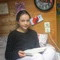 Our daughter Mathilde 15 years old in her bedroom under the roof, as a chalet