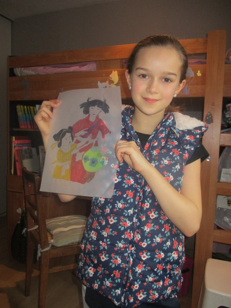 Gwendoline 12 years old likes drawing and playing the Saxophon