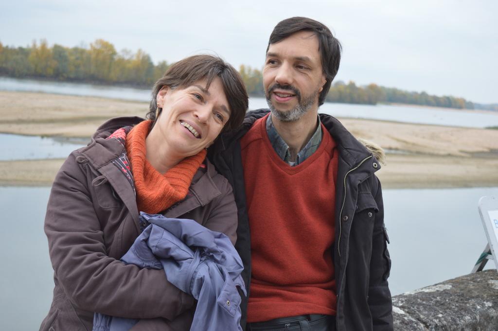 Pascale et Laurent in front of our Loire river