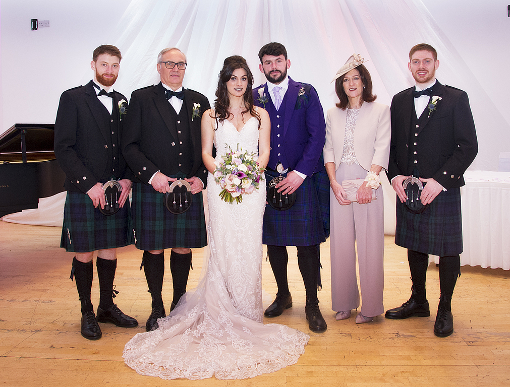 Family photo at our daughter's wedding April 2019