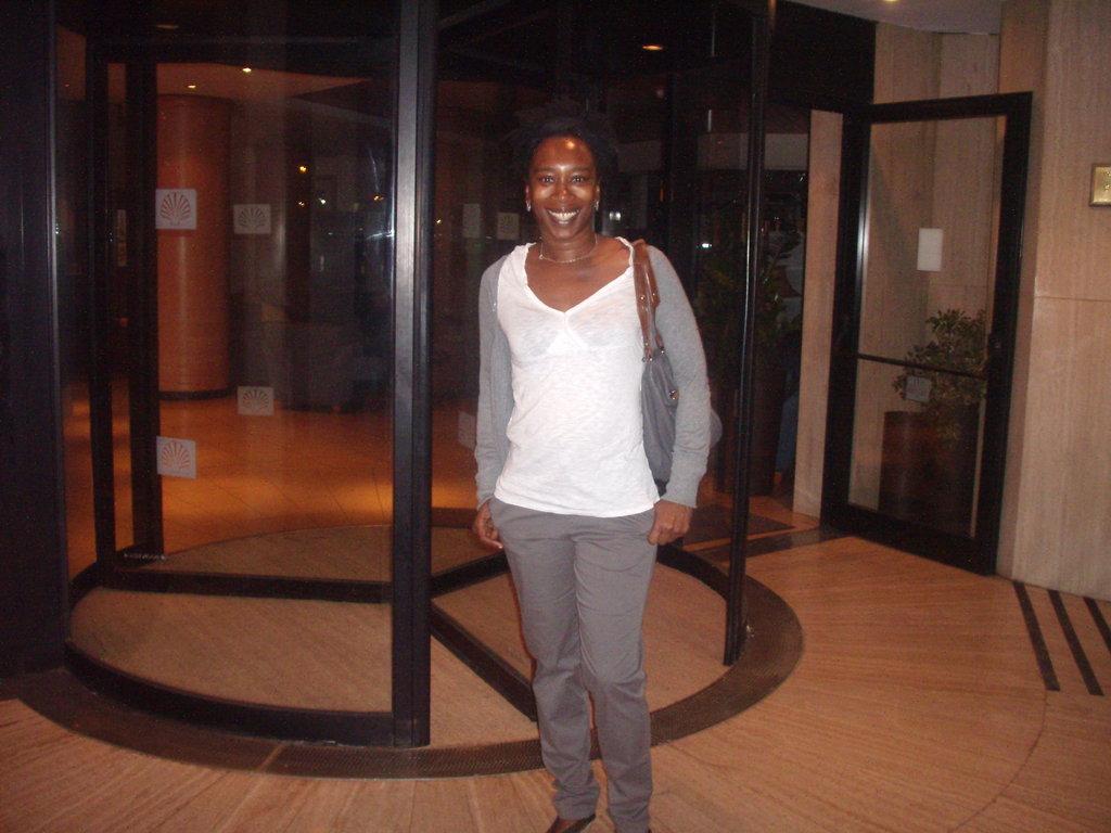 Enjoying myself in Malta outside a hotel in Sliema....