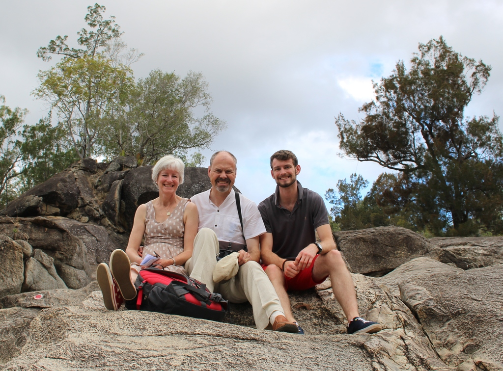 Sue, David and Sam, Granite Gorge NP, QLD, Australia