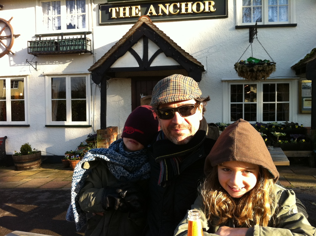 Enjoying trip to the pub in the countryside!
