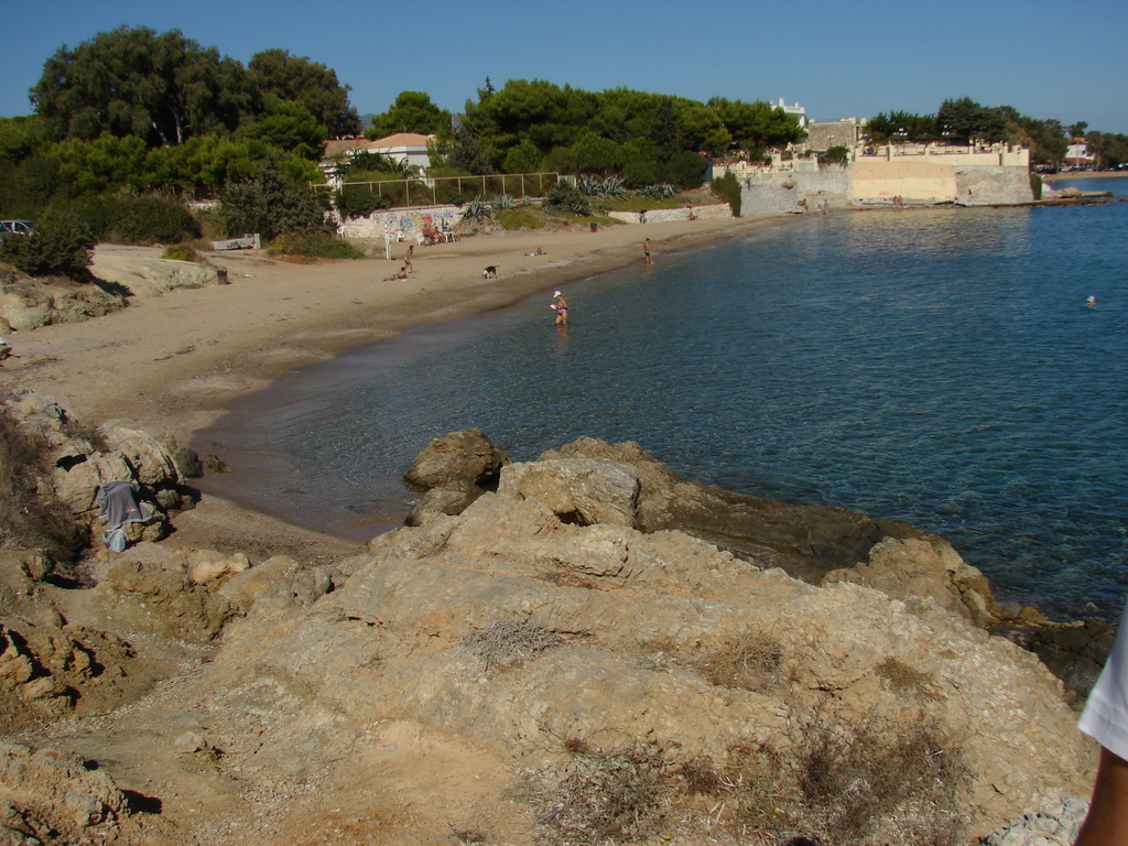 the beach where we swim, 150m from the house