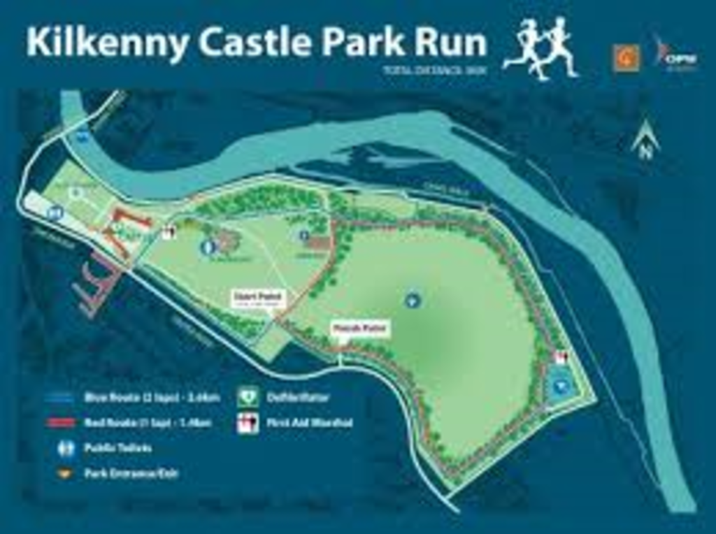 Free 5km run in the grounds of Kilkenny Castle every Saturday morning 9:30am!
