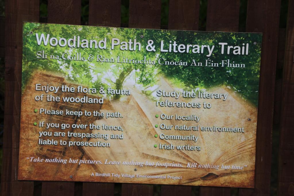 Sentier littéraire à Birdhill