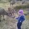 Blathnaid en Ecosse quand elle avait 4 ans.