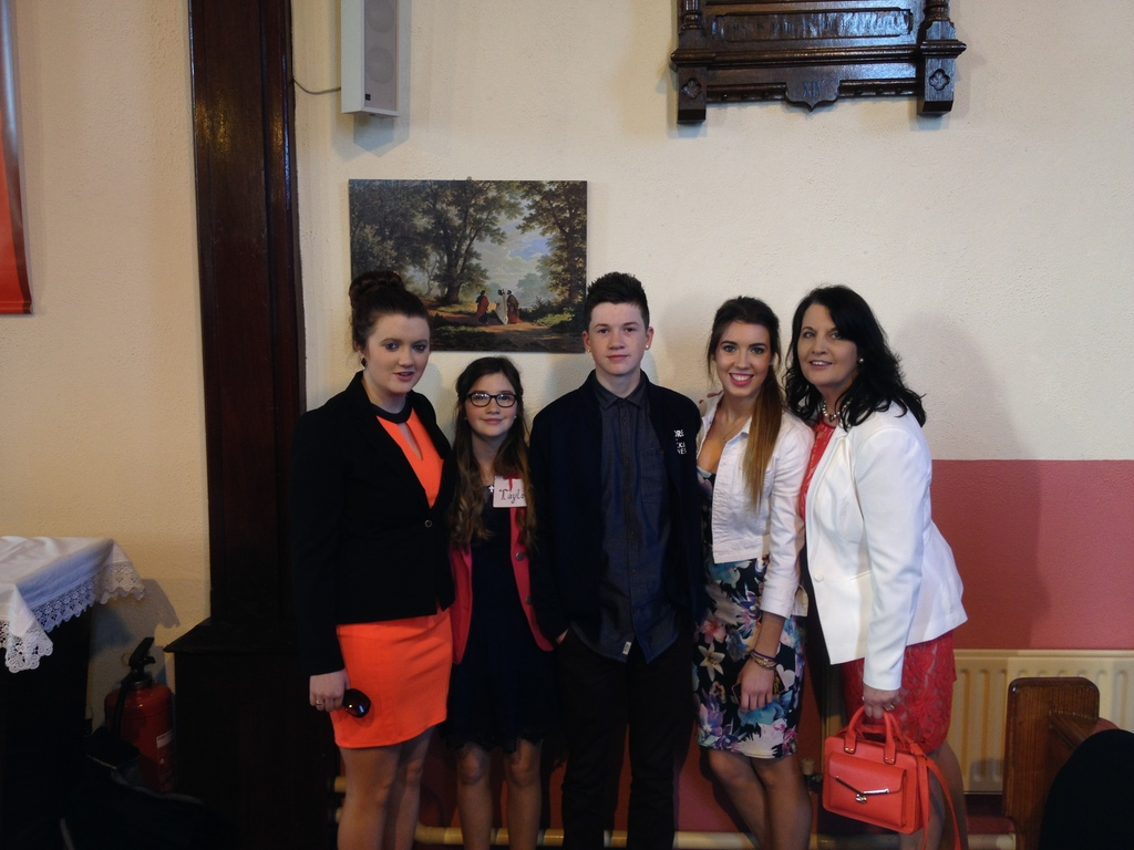At Emer's confirmation in March 2014 (Liam taking the picture).