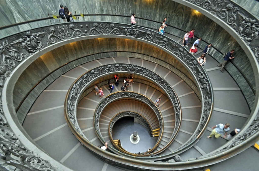 Spiral Staircase Vatican City Post Office 2014