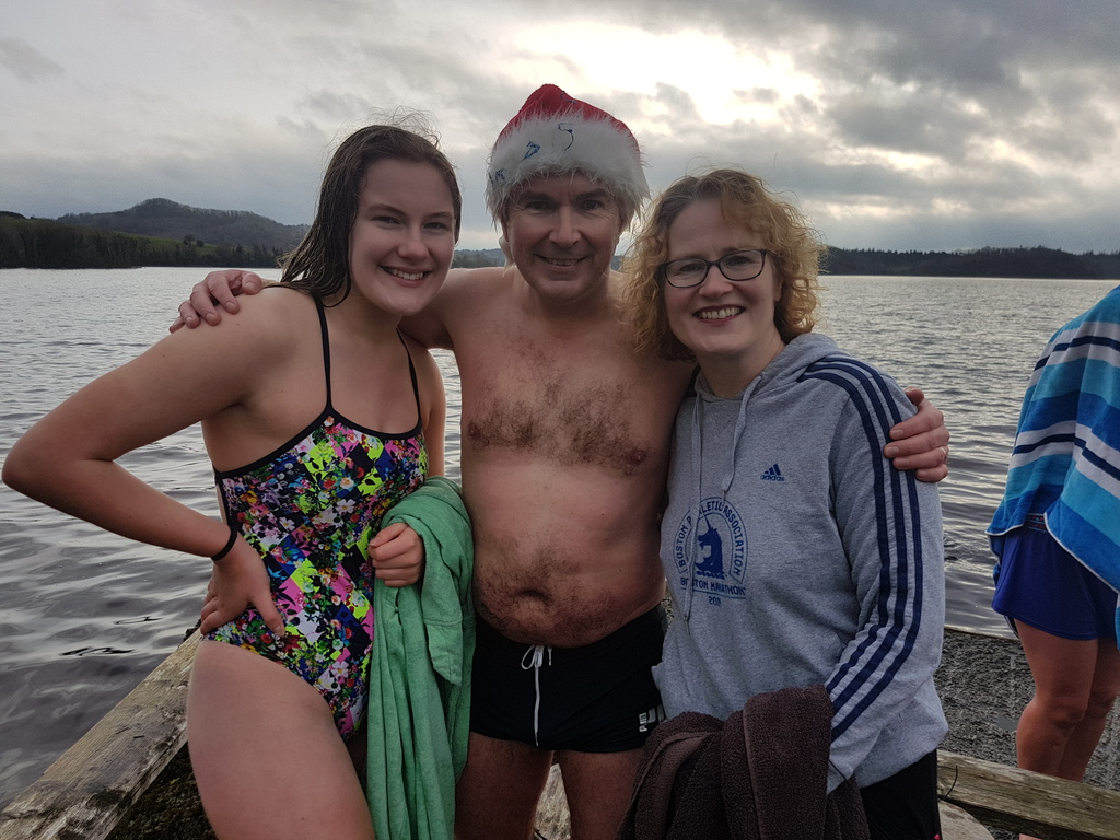2018 Christmas Day swim in Lough Gill, 5 minutes drive from our house.
