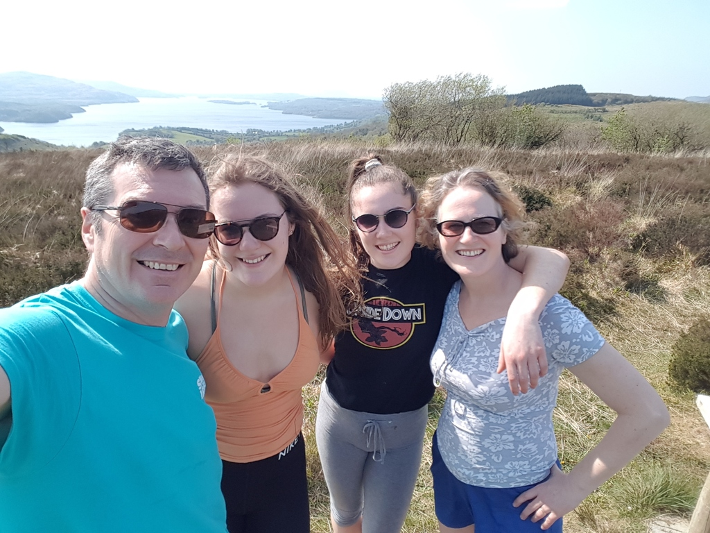 Our family at a local beauty spot (O'Rourke's Table) in April 2019. 5 minutes drive form our house.