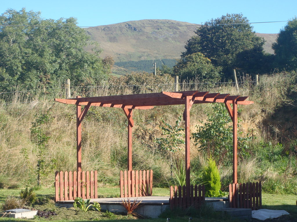 Pergola and front of the house