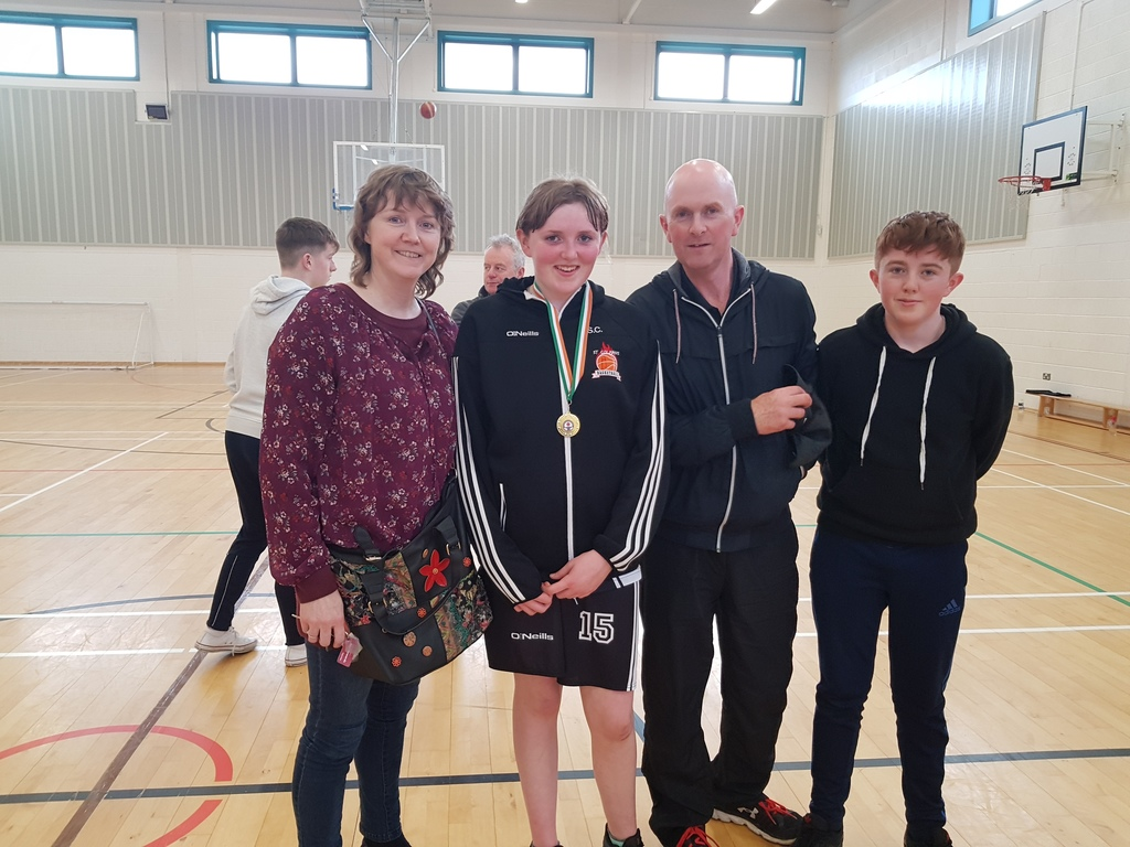 Costello family at Sarahs basketball match May 2018