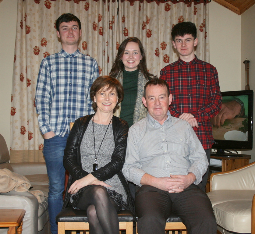 This is our family, Liam 63, Ann 60, Doreen 28, James 26 and Tom 23. All the 'kids' live in Dublin!