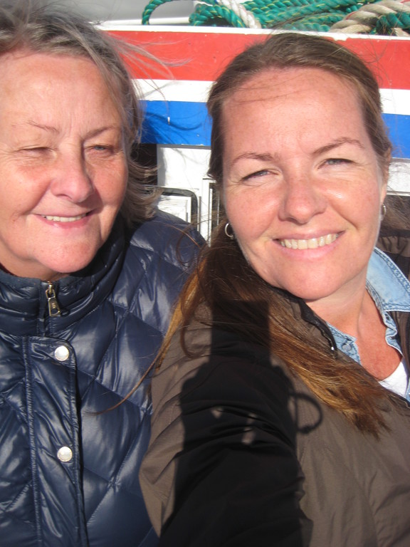 My mother and I sailing in Iceland