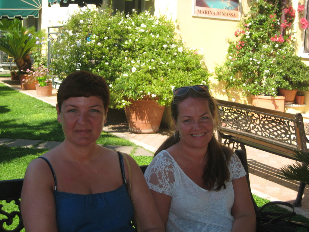 My sister and I in Italy