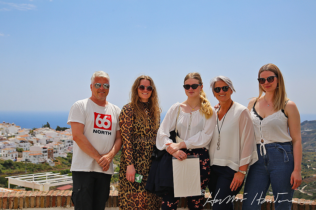 The family in Frigiliana, Spain, spring 2019.