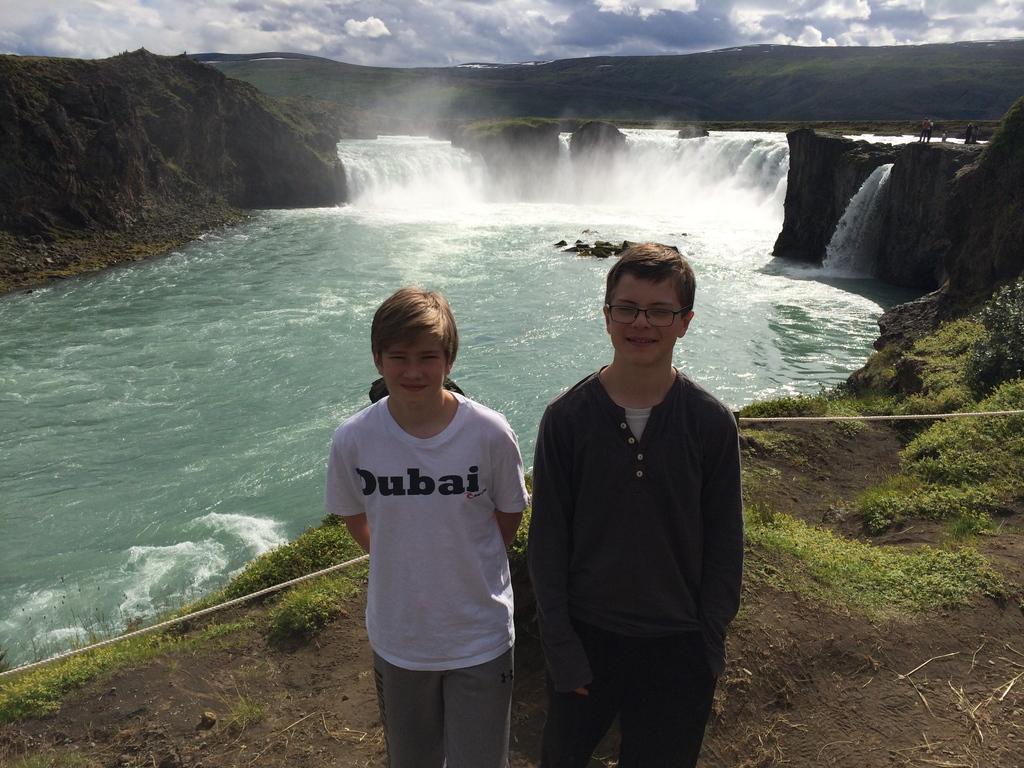 Our sons, Baldur and Oddur