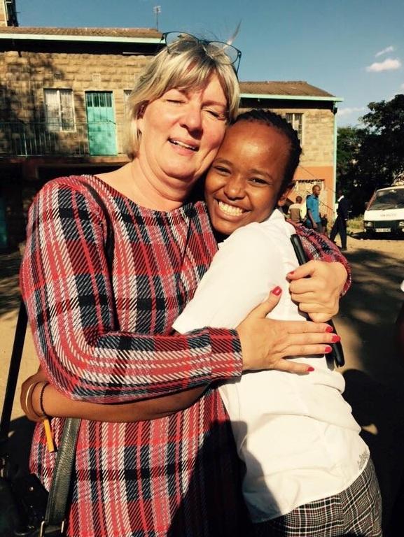 With a friend in Nairobi, Kenya