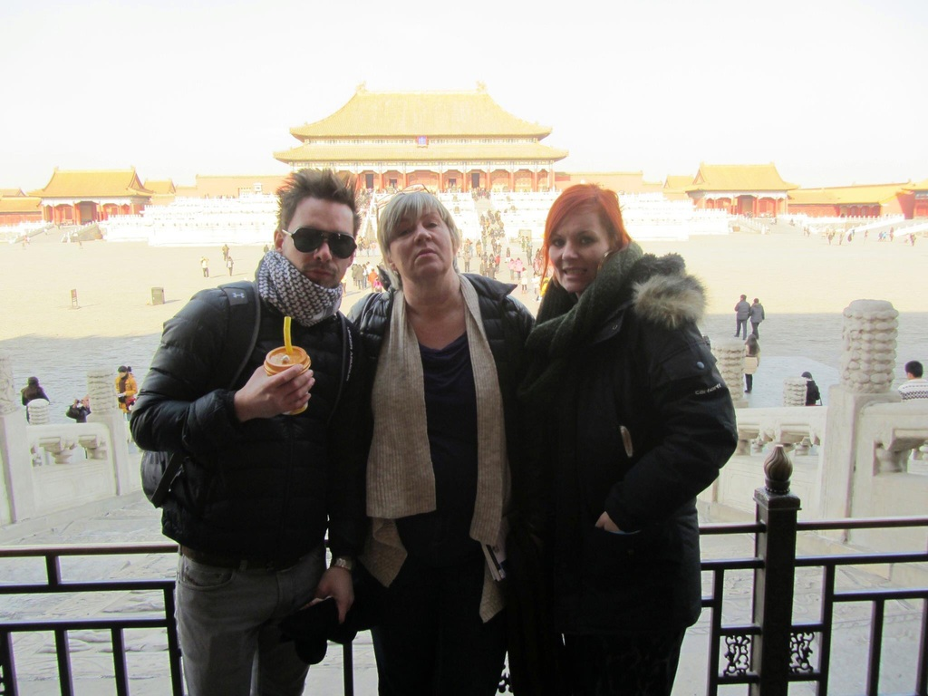With my children in Beijing, China