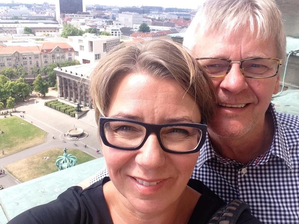 Ingibjörg and Birgir - selfie in Berlin 2014