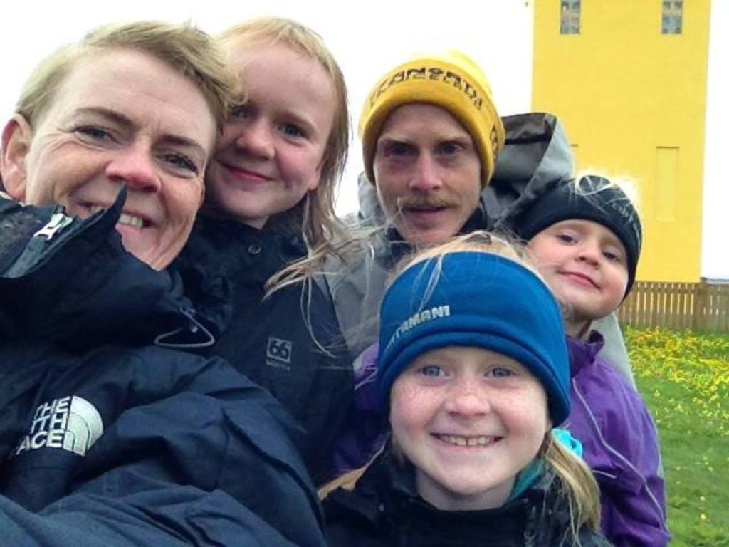 Family traveling in Iceland 2015