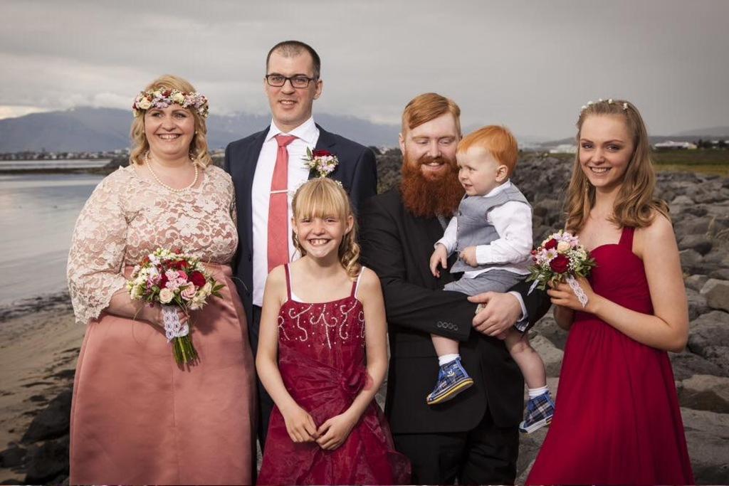 Wedding photo july 2015, the whole family
