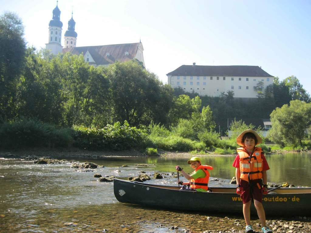 During our canoeing trip on the river Danube